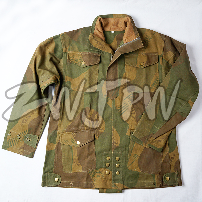 WW2 UK ARMY BRITISH 1ST PARATROOPERS PATTERN DENISON CAMO SMOCK HIGH QUALIT-UK/5033060 active letter pattern camo pattern sweatshirts in green