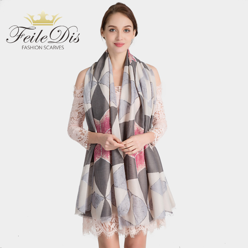 [FEILEDIS]2019 Fashion Cotton and linen scarf Women Wrap Designer Scarves Autumn And Winter Women scarf luxury brand shawl QT019