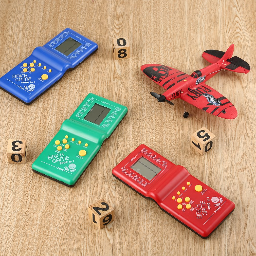 OCDAY Classic Handheld Game Machine Tetris Brick Kids with Music Playback without Battery Electronic Toys