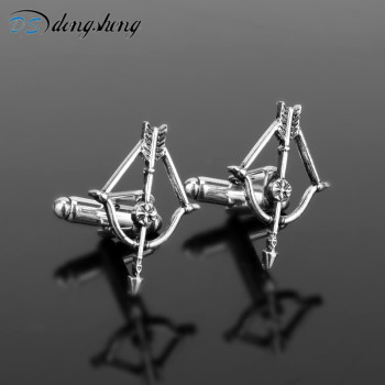 dongshengThe Walking Dead Cufflinks Punk Style The Living Vintage Cuff Button Crossbow Bow and Arrow Cufflinks for Men Women-40 image