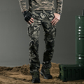 2015 Moda de Algodón de Los Pantalones Flojos Ocasionales Pantalones de Carga de Peso Medio Bordado Botón A Presión de Metal MK-7157B Z10