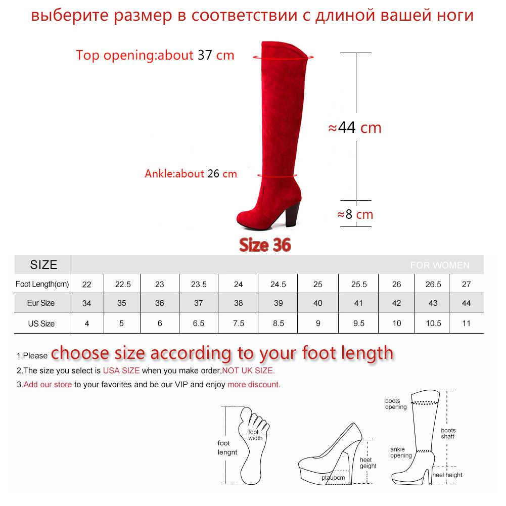 DoraTasia büyük boy 34-43 kadın diz çizmeler üzerinde Vintage tıknaz yüksek topuk ayakkabı kadın sonbahar kış kalın kürk katlanabilir şövalye çizmeler