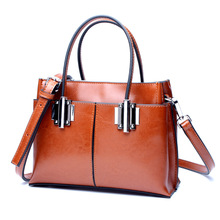 Фотография New Arrival 2017 Vintage Cow Leather Handbags Women Genuine Leather Shoulder Bags Boston Bag Fashion Ladies Crossbody Bag