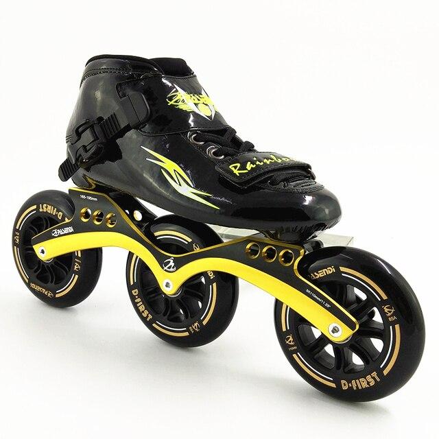 pasendi Racing Speed Skates 3 Rodas Wheels Roller Skate 110mm racing Inline  Skating Kids Skates Shoes Patines Women Men Boots 89df8561a