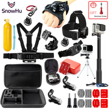 SnowHu For for action camera Accessories Set go pro hero 7 6 5 4  kit selfie stick Eken/ xiaomi yi EVA case GS80