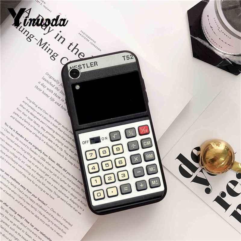 Yinuoda Calculatrice Cassettes Boombox Clavier Motif Doux Téléphone étui pour iphone 8 7 6 6 S Plus X XS MAX 5 5 S SE XR 10 Couverture