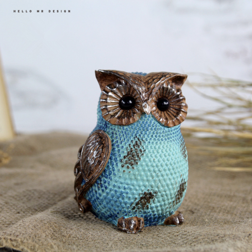 hot popular minimalist cute owl home decorations ceramics owl accessories living room ornaments crafts best gift