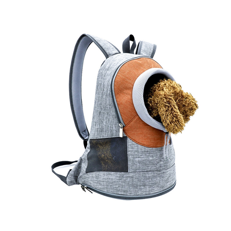 Pet Carrier <font><b>Backpack</b></font> Breathable Outdoor Kitten Carrying Bag for Kitty Puppy TB Sale image