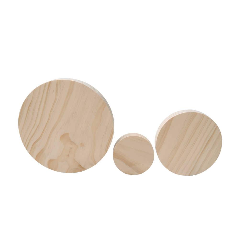 3 ชิ้นไม่ทาสีธรรมดาไม้สร้อยคอต่างหูแหวนเครื่องประดับ Display Organizer