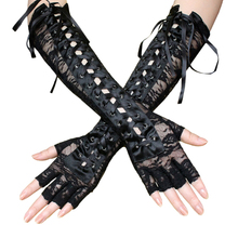 1 Pair Lace Gloves Exotic Comfortable Sexy Rivet Lace Up Glo