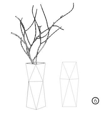 Silicone Concrete Cement 3d Vase Mold Geometric Desk Decoration Pen