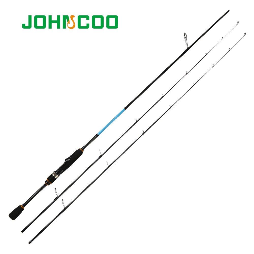 JOHNCOO LEBENDIGE UL/L L/ML Spinning Rod Feste spitze 2,1 m 1,92 m Forelle Rod Schnelle Action carbon stange für licht Jigging angelrute Barsch
