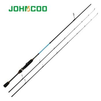 JOHNCOO canlı UL/L/ML iplik çubuk katı ucu 2.1m 1.92m alabalık çubuk hızlı eylem karbon çubuk işık jig balıkçılık çubuk levrek