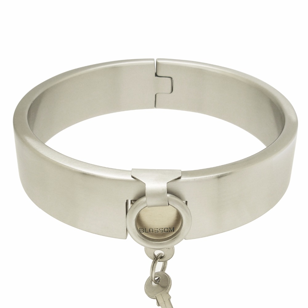 High quality stainless steel lockable collar fetish choker