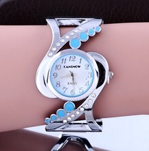 Women's Vintage Bracelet Style Wristwatch with Rhinestones
