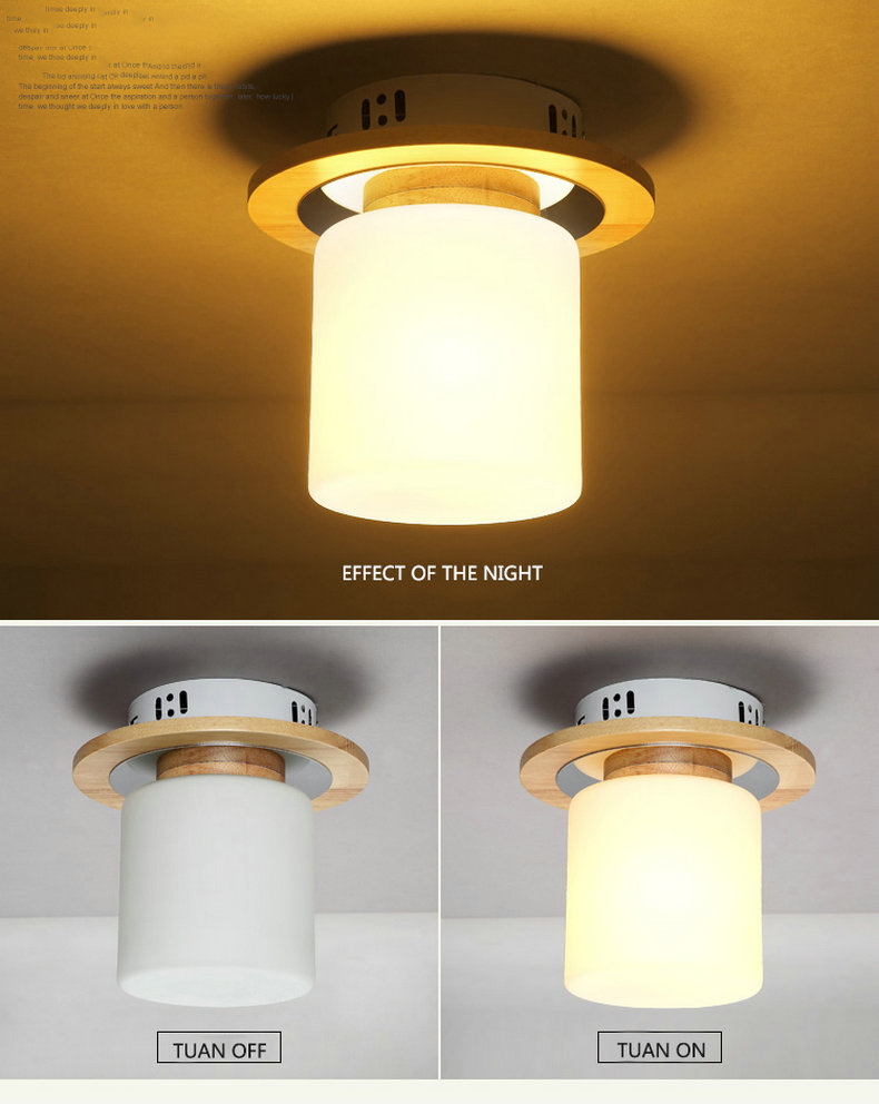 Natureza nordic luz da lâmpada do teto