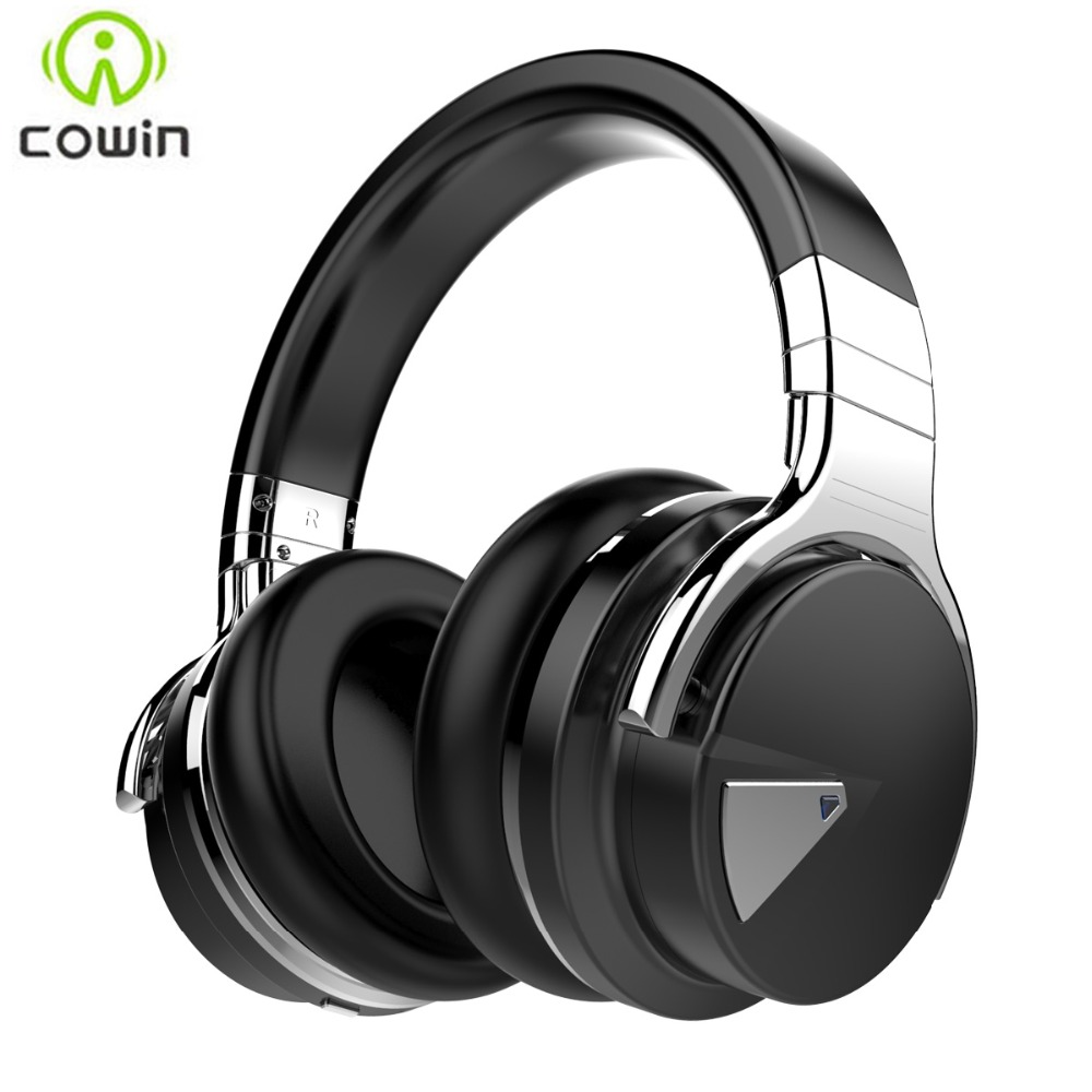 Cowin E-7 Active Noise Cancelling Cuffie Bluetooth wireless Deep Bass Auricolare Bluetooth stereo con microfono per telefono