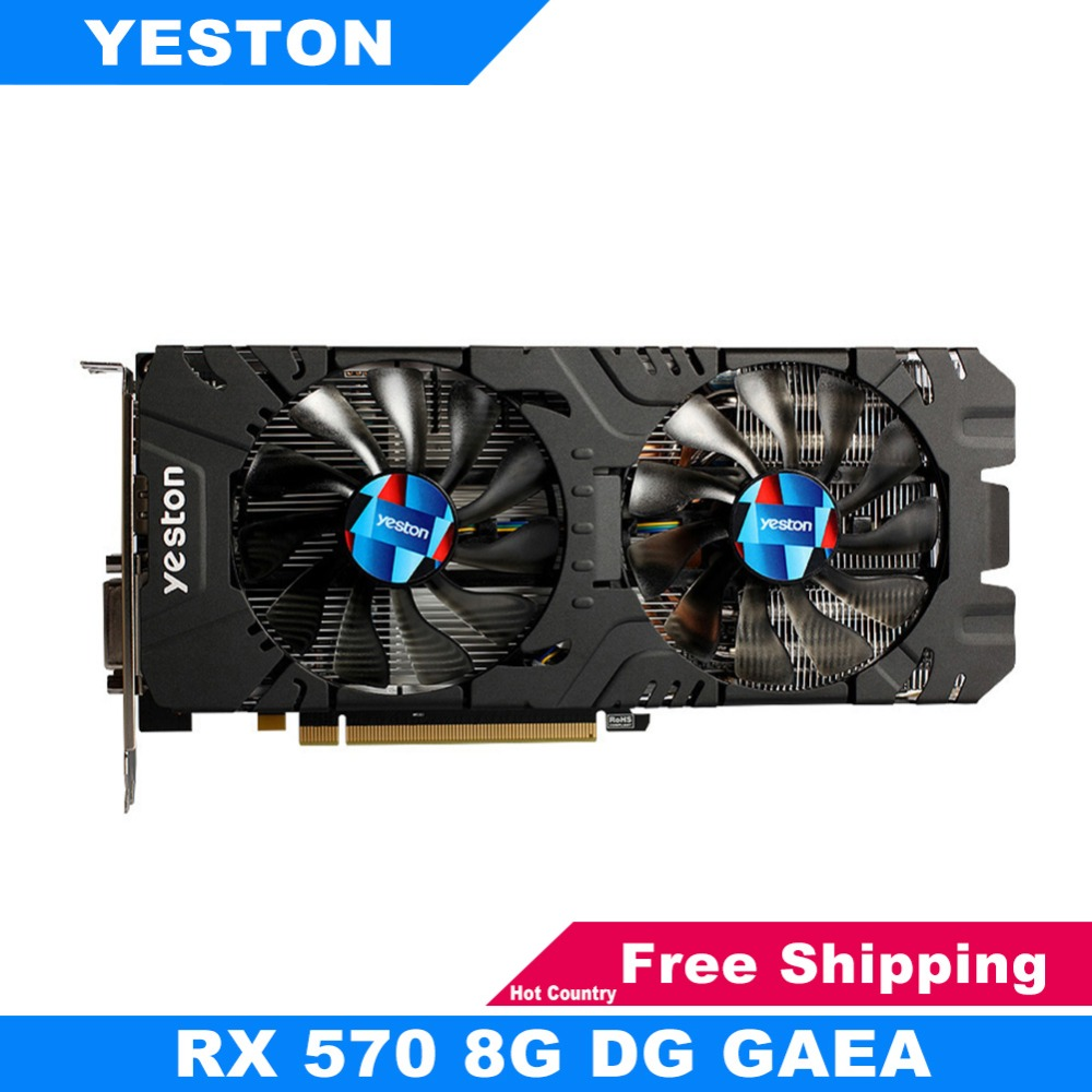 Yeston RX570 8G D5 Graphics Cards 256bit GDDR5 PCI-E 3.0 Gaming Desktop Computer PC Video Graphics Cards Support DVI-D HDMI DP цена