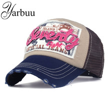 YARBUU summer Baseball caps Breathable Net Cap high quality Casual hat casquette embroidery letter cap bone hats for men women