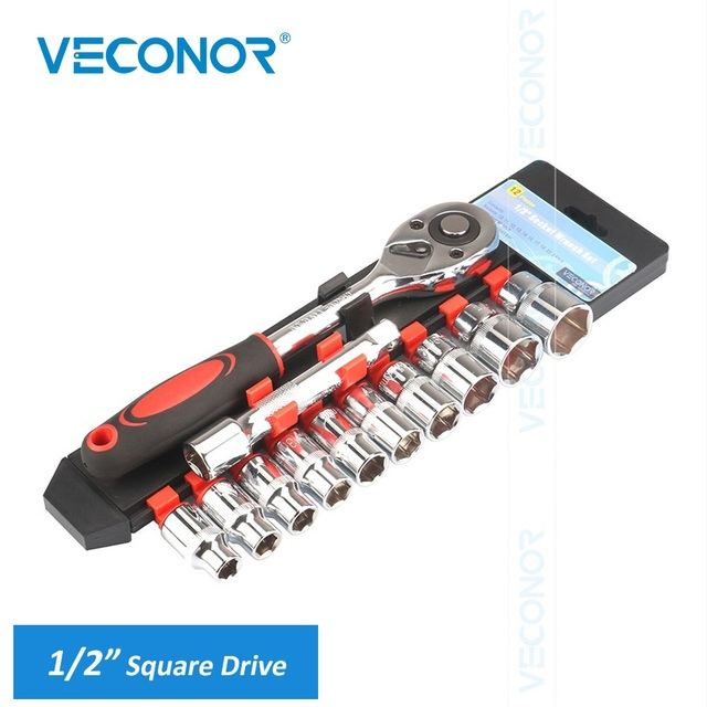 """1/2"""" 12.5mm Square Drive Socket Wrench Set of Tools A Set of Keys 72T Ratcheting Spanner With 1 Extension Bar Good Packed"""