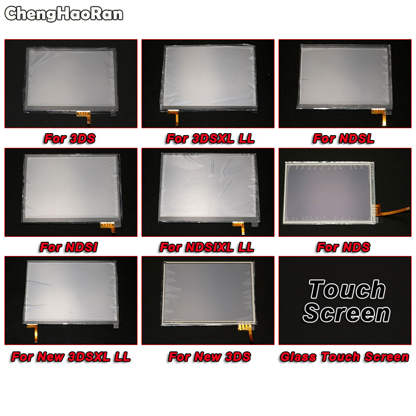 ChengHaoRan Touch Screen Glass Digitizer Lens Replacement For Nintendo 3DS XL LL New 3DSXL 3DSLL NDS NDSL NDSI XL LL