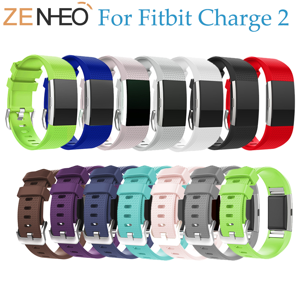 Colorful Silicone Wristband Wrist Strap Smart Watch For Fitbit Charge 2 Band Strap Soft Watchband Replacement Smartwatch Band fitbit watch