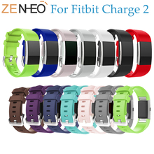 лучшая цена Colorful Silicone Wristband Wrist Strap Smart Watch For Fitbit Charge 2 Band Strap Soft Watchband Replacement Smartwatch Band