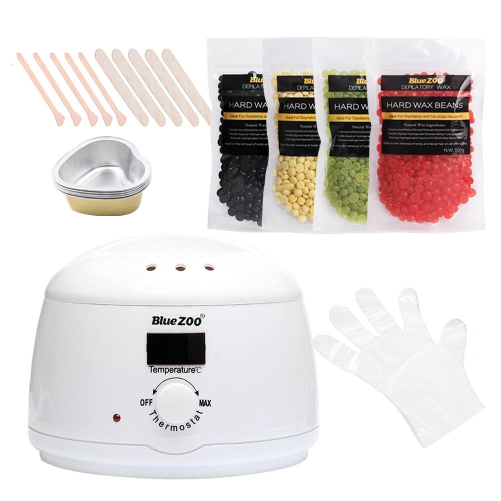 4pcs Hard Wax Beans 100g Wax Heater Set Brazilian Hot Film Pellet Waxing Bikini Machine Pellet Waxing Beauty Tools Kit All Skin цена и фото