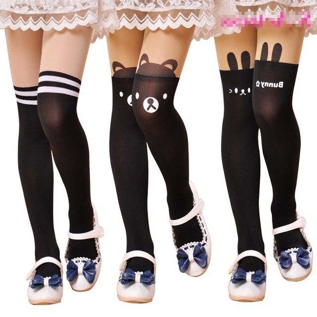 14e7ae91d High Elastic Baby Girl s Stockings Fashion Tight Solid Cute Cartoon Designs  Children Girls Kids Stockings Pantyhose 90-155 cm