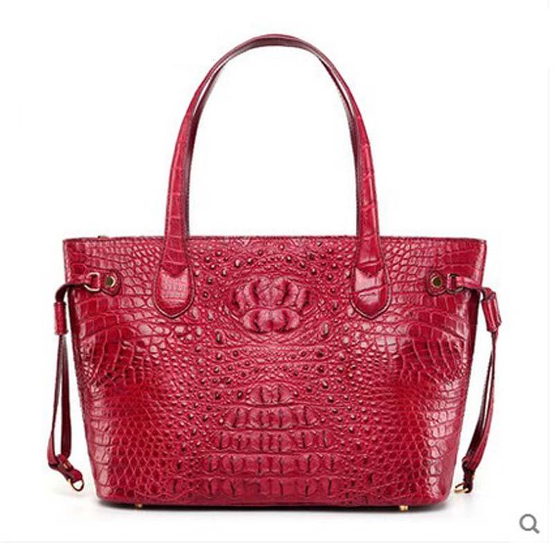 hlt 2017 new Thai crocodile leather women handbag female dermal teapot, simple leather and simple shoulder tote bag dadi1 dadi hlt 102