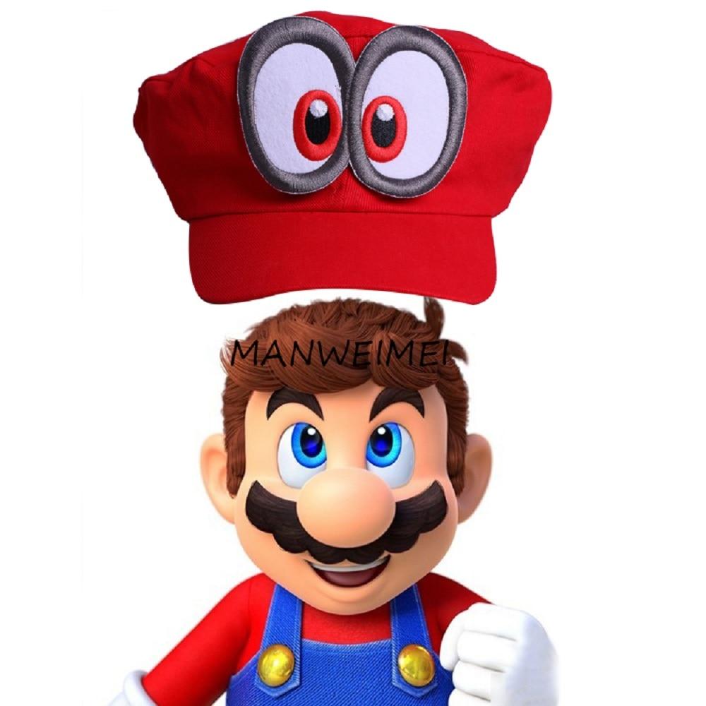 Game Super Mario Odyssey Adult Cap Child Cosplay Handmade Caps