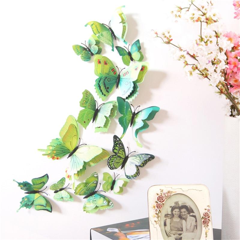 Aliexpress.com : Buy 12pcs/set DIY 3D Simulated Butterfly Wall ...