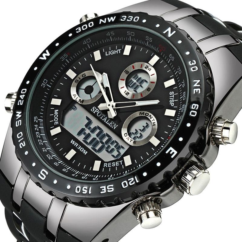 Spotalen Спорт Военная Униформа Для мужчин цифровые часы армия часы мужские брендовые Водонепроницаемый наручные Часы LED электронные часы Relogio …