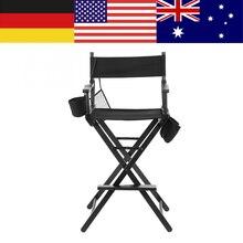 גבוהה אלומיניום מסגרת איפור אמן מנהל כיסא מתקפל חיצוני ריהוט קל משקל נייד מתקפל מנהל איפור כיסא