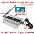 3 Г WCDMA UMTS 2100 МГЦ ЖК Ретранслятор Набор Сотовый Телефон Мобильный Усилитель Сигнала с Внутреннего и Наружного Антенна 500 квадратных Метров