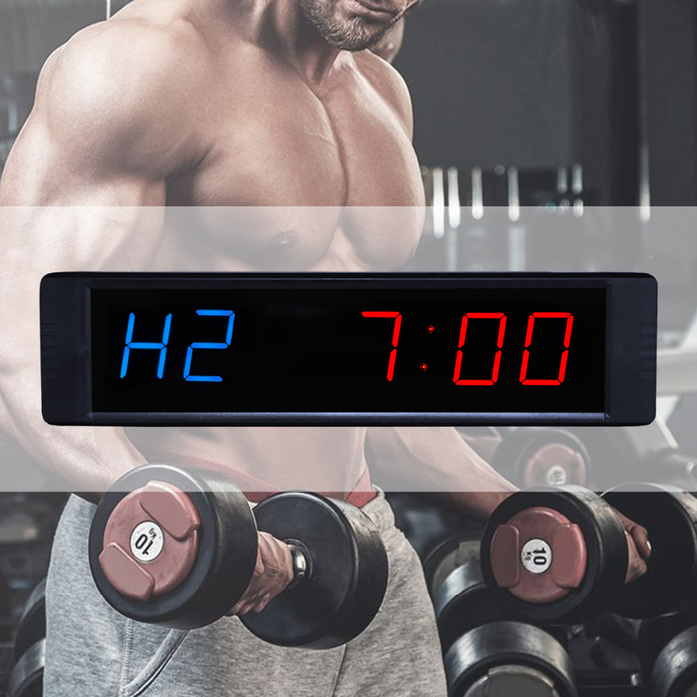 """[Ganxin] 1"""" Hot selling Led crossfit timer garage timer gm counter tabata timer sport counter-in Wall Clocks from Home & Garden    1"""