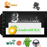 Car Stereo Android 8.1 2 Din with Octa Core Bluetooth 4.0 Android Auto Support Audio Video Out Aux Android 8.1 Octa Core 2GB