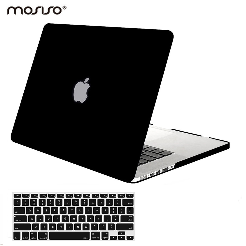Mosiso Black Transparent Case for Macbook Pro 13 15 Retina display year 2013 2014 2015 Model A1502 A1425 A1398