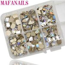 50Pcs/Lot Flatback Rhinestones Glass Diamond/Triangle/Oval/Rectangle/Waterdrop Shapes Nail Art Gems 5*8mm Colorful Diamond