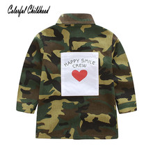 1bd5cd733 Spring Toddler Kids Baby Boys Girls Cotton Button Long Sleeve Camouflage  Army Jackets Coat Tops Camo Outerwear Tunic Clothes