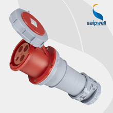 Wholesale Saipwell 32A 400V 4P (3P+E) EN / IEC 60309-2 cee plug and socket Heavy duty IP67 waterproof industrial socket SP1450