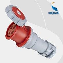 Wholesale Saipwell 32A 400V 4P (3P+E) EN / IEC 60309-2 cee plug and socket Heavy duty IP67 waterproof industrial socket SP1450