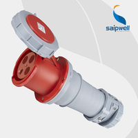 Wholesale Saipwell 32A 400V 4P (3P+E) EN / IEC 60309 2 cee plug and socket Heavy duty IP67 waterproof industrial socket SP1450