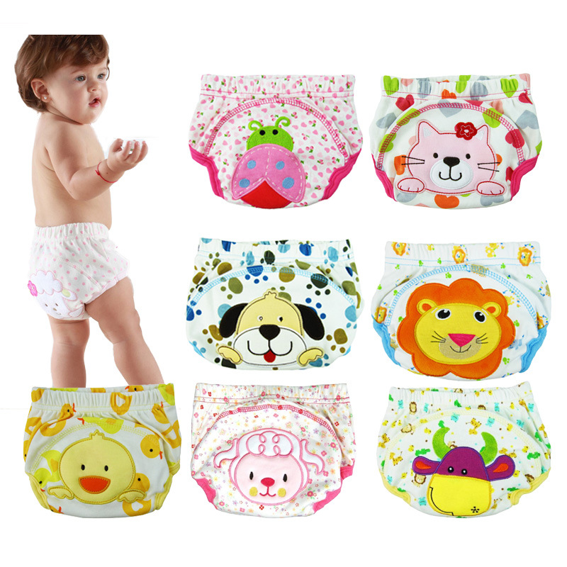 3pcs/lot Diapers Baby Diaper Children's Underwear Reusable Nappies Training Pants Panties For Toilet Training Child B-qdkbl014-3