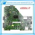 Placa madre del ordenador portátil para asus i7-4500cpu x550lc 60nb02ha-mb3000 x550lc mainboard non-integrated probó por completo