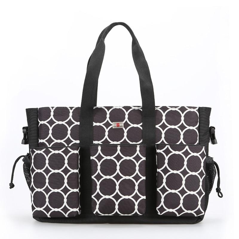 Waterproof Wetbag Polka dot Baby Diaper Changing Bag Shoulder Stroller Bolso Maternidad Nappy Nursery Bags Set