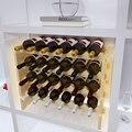 Madera maciza estante del vino estante del vino de madera creativa Infinita superposición de Vino estante del vino