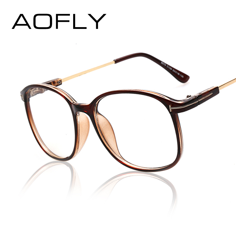 aofly fashion leopard cheap glasses frame unisex plain eyeglass frames for women men spectacle gift vintage