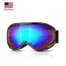 Snowmobile Eyewear Ski Goggles Skiing Anti-fog UV400 Glasses Double Layers Snowboard Eyewear Winter Snow Sport Safety