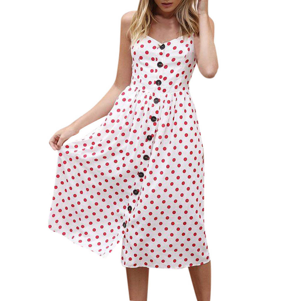 97a95cf8 Dress Women Sexy Dress Girl Summer Pockets Strappy Single Breast ...